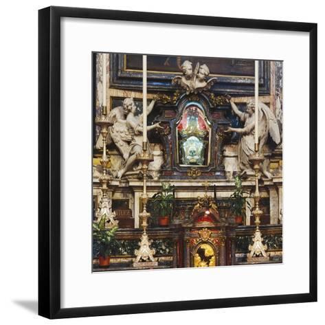 Urn with Skull of St Aloysius Gonzaga--Framed Art Print