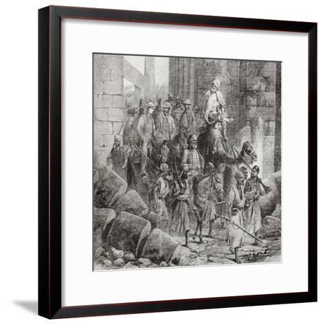 Victorian Tourists at the Hall of Columns or Hypostyle Hall--Framed Art Print