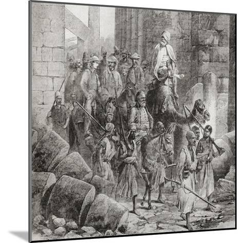 Victorian Tourists at the Hall of Columns or Hypostyle Hall--Mounted Giclee Print