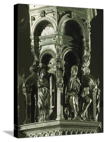 Partly Enameled Silver Cross for Altar of Florence Baptistery-Antonio Benci-Stretched Canvas Print
