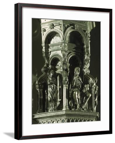 Partly Enameled Silver Cross for Altar of Florence Baptistery-Antonio Benci-Framed Art Print