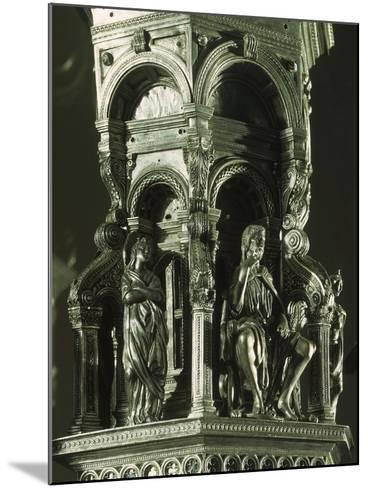 Partly Enameled Silver Cross for Altar of Florence Baptistery-Antonio Benci-Mounted Giclee Print