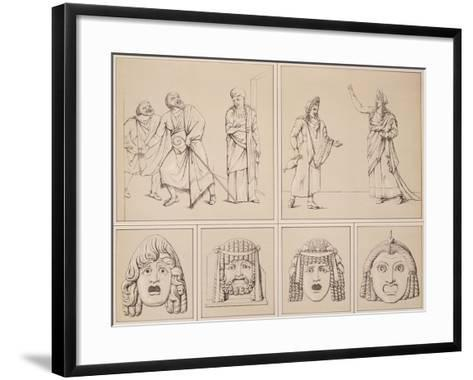 Reproduction of Some Murals Depicting Tragic Scenes and Other Tragic Masks-Fausto and Felice Niccolini-Framed Art Print