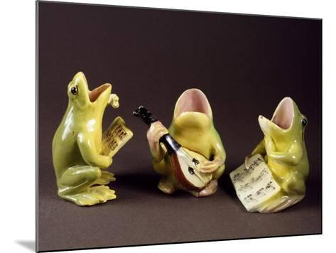 Three Frogs Singing and Playing Music-Jerome Massier Pere-Mounted Giclee Print