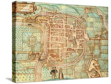 Map of Tridentum-Georg Braun and Franz Hogenberg-Stretched Canvas Print