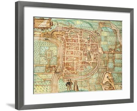 Map of Tridentum-Georg Braun and Franz Hogenberg-Framed Art Print