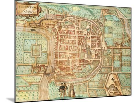 Map of Tridentum-Georg Braun and Franz Hogenberg-Mounted Giclee Print