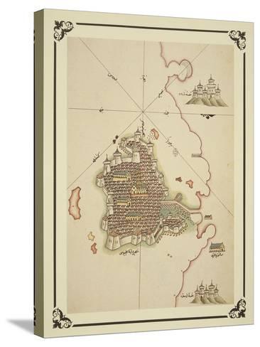 Gallipoli and Coast of Salento-Piri Reis-Stretched Canvas Print