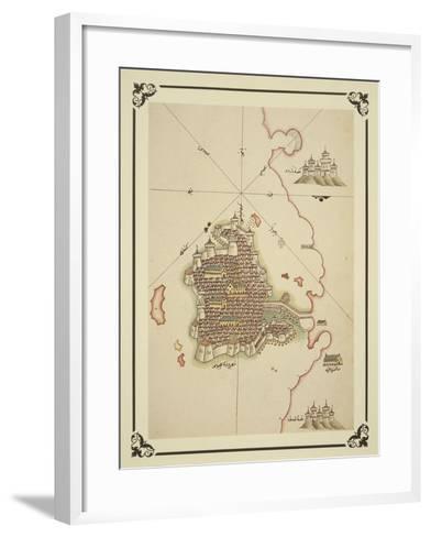 Gallipoli and Coast of Salento-Piri Reis-Framed Art Print