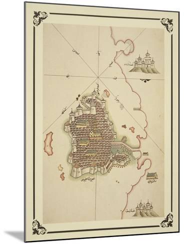 Gallipoli and Coast of Salento-Piri Reis-Mounted Giclee Print