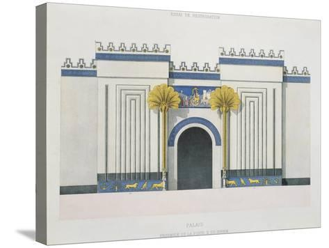 Reconstruction of Entrance Door to Harem at Palace of Sargon II-Victor Place and Felix Thomas-Stretched Canvas Print