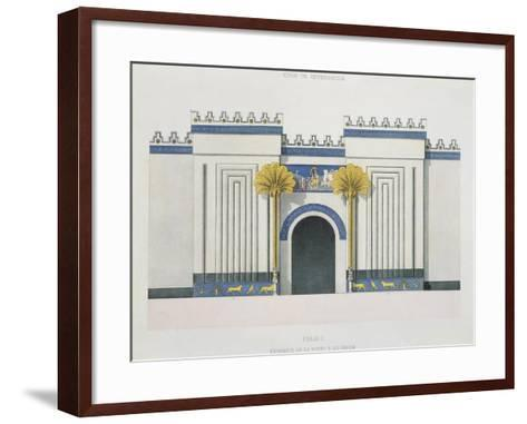 Reconstruction of Entrance Door to Harem at Palace of Sargon II-Victor Place and Felix Thomas-Framed Art Print