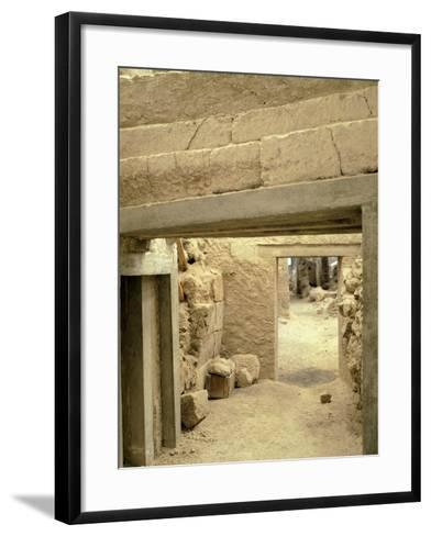 Excavations at the Archaeological Site of Akrotiri on Thera, Now Santorini, Greece--Framed Art Print