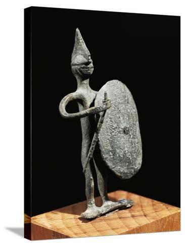 Figurine of Warrior--Stretched Canvas Print