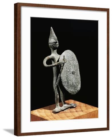 Figurine of Warrior--Framed Art Print