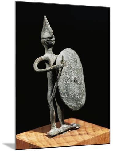 Figurine of Warrior--Mounted Giclee Print
