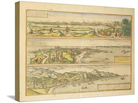 Maps of Seville--Stretched Canvas Print