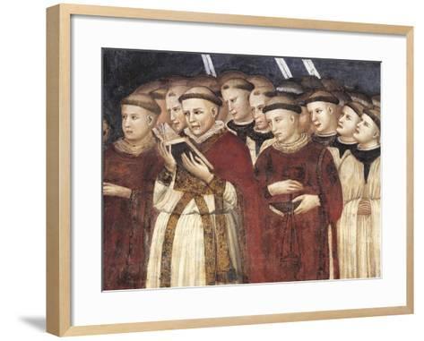 Monks in Prayer--Framed Art Print