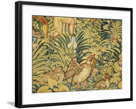 Ducks in Pond--Framed Art Print
