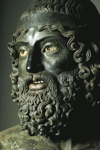 Riace Bronzes--Stretched Canvas Print