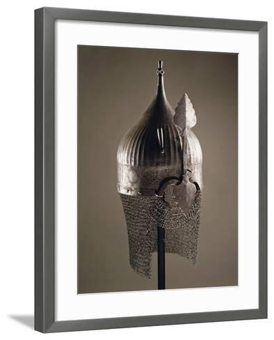 Turban Helmet in Steel--Framed Art Print