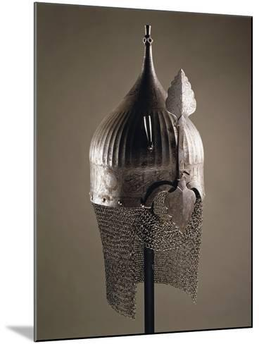 Turban Helmet in Steel--Mounted Giclee Print