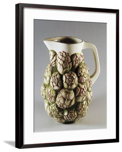 Jug Decorated with Artichokes--Framed Art Print
