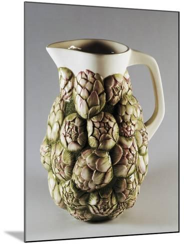 Jug Decorated with Artichokes--Mounted Giclee Print