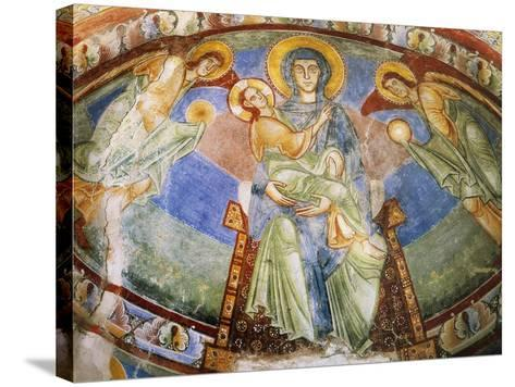 Madonna and Child with Angels and Saints--Stretched Canvas Print