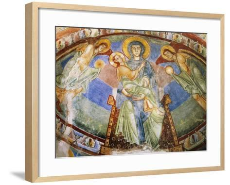 Madonna and Child with Angels and Saints--Framed Art Print