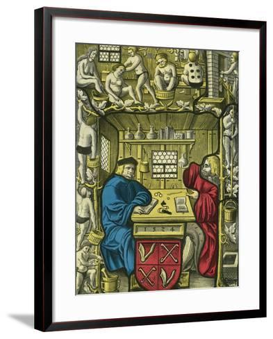 Society of Surgeons and Bathers--Framed Art Print
