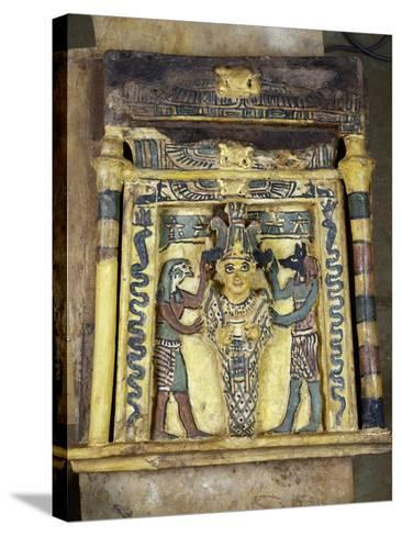 The Deceased Between Two Anubis--Stretched Canvas Print