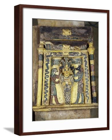 The Deceased Between Two Anubis--Framed Art Print