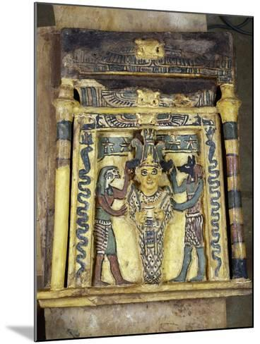 The Deceased Between Two Anubis--Mounted Giclee Print