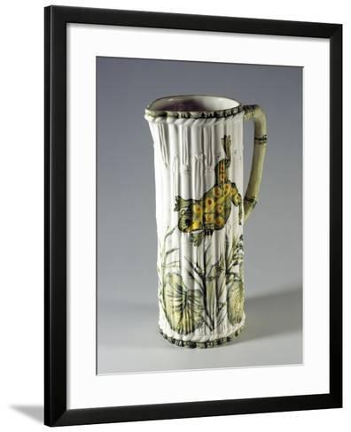 Pitcher with Painted Frog--Framed Art Print