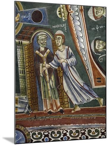 Saint Nicholas Going Back into Monastery--Mounted Giclee Print