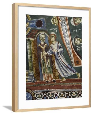 Saint Nicholas Going Back into Monastery--Framed Art Print