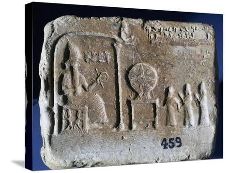 Votive Tablet Depicting Shamash--Stretched Canvas Print