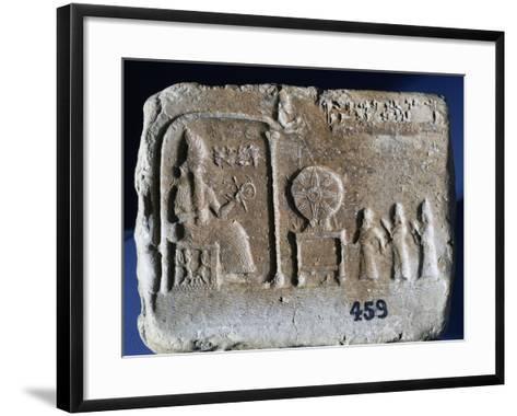 Votive Tablet Depicting Shamash--Framed Art Print