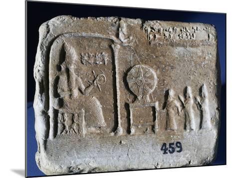 Votive Tablet Depicting Shamash--Mounted Giclee Print