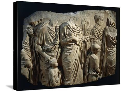 Fragment of Ara Pacis Augustae--Stretched Canvas Print