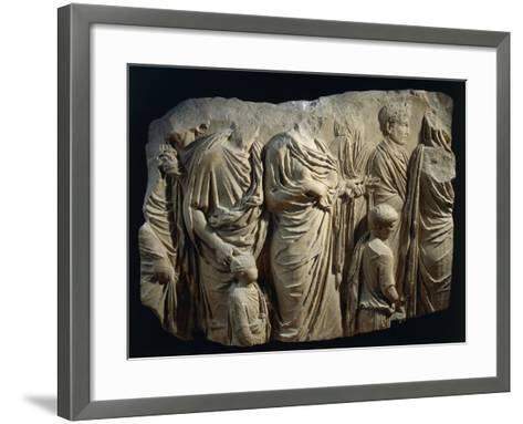 Fragment of Ara Pacis Augustae--Framed Art Print