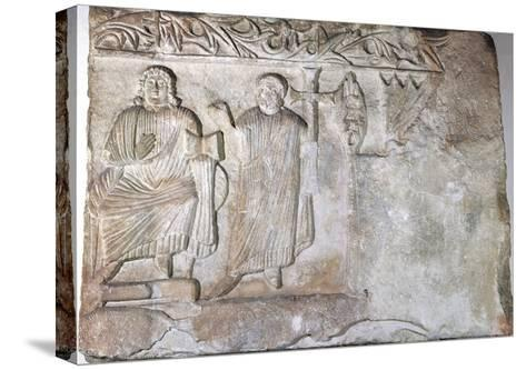 Relief Depicting Christ and St Peter--Stretched Canvas Print