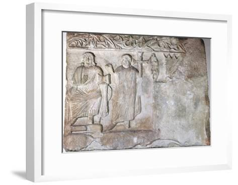 Relief Depicting Christ and St Peter--Framed Art Print
