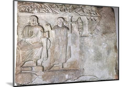 Relief Depicting Christ and St Peter--Mounted Giclee Print