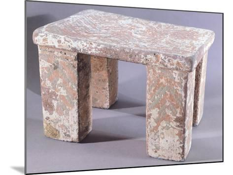 Stone Seat Covered with Painted Stucco--Mounted Giclee Print