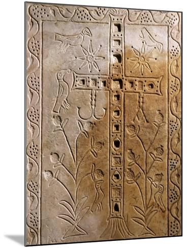 Early Christian Relief with Jeweled Cross--Mounted Giclee Print