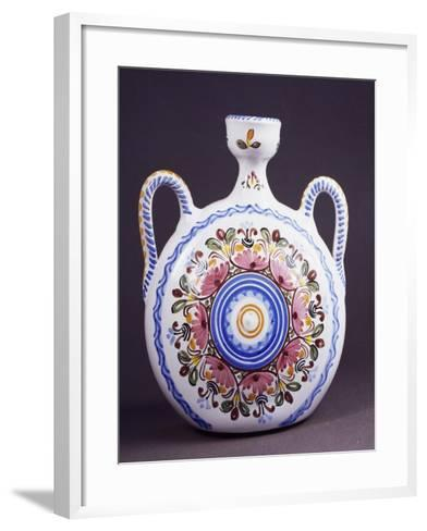 Flask Decorated with Flowers--Framed Art Print
