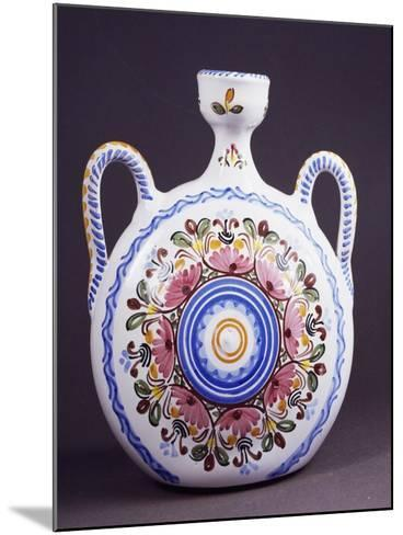 Flask Decorated with Flowers--Mounted Giclee Print