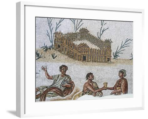 Fortified Dwelling and Open Air Banquet--Framed Art Print